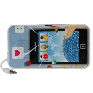 Social connection iPhone speaker