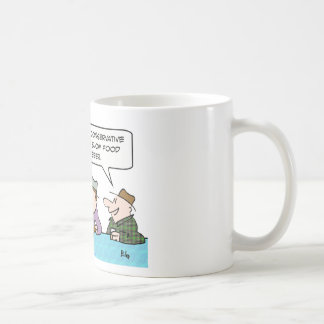 social conservative slow food heavy beer believes classic white coffee mug