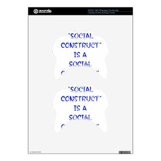 """Social Construct"" is a social construct. Xbox 360 Controller Decal"