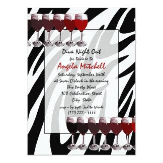 """Social del vino rojo invitación 5.5"""" x 7.5"""""""