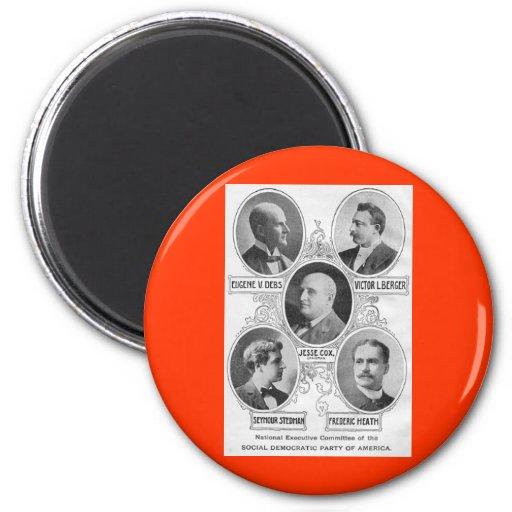 Social-democratic-party-1900 americano imán redondo 5 cm