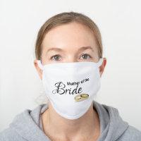 Social Distance 2020 Wedding, Bride Gift Ideas White Cotton Face Mask