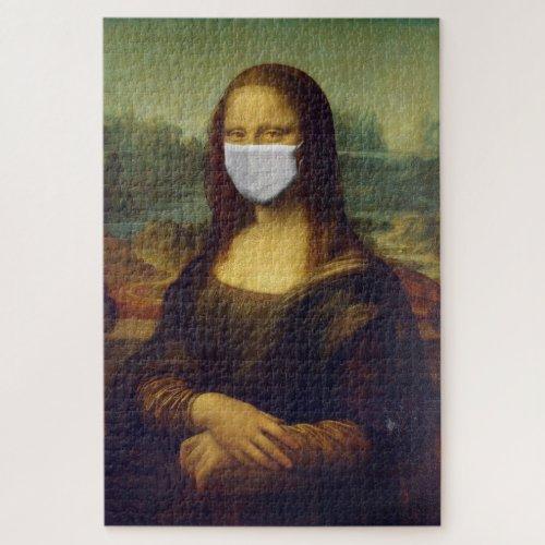 Social Distancing Art Mona Lisa Funny Jigsaw Puzzle