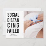 Social Distancing Failed Sans Serif Typography Announcement