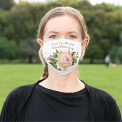 Social Distancing Flowers Face Mask