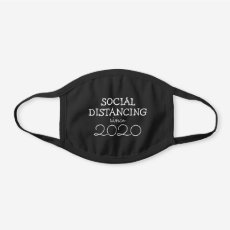 Social Distancing | Funny Urban 2020 Black Cotton Face Mask