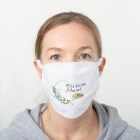 Social Distancing Wedding, Bride Gift Ideas White Cotton Face Mask