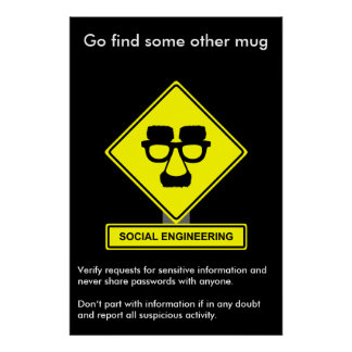 Social Engineering Security Awareness Poster