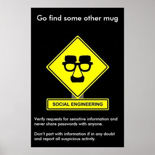 Social Engineering Security Awareness Poster
