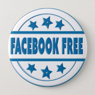 Social Facebook Free Your Custom Round Badge Button