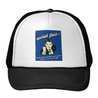 social fail trucker hat