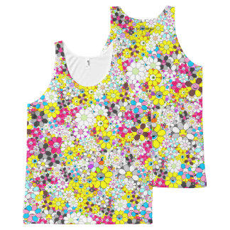 Social flowers #3 All-Over-Print tank top