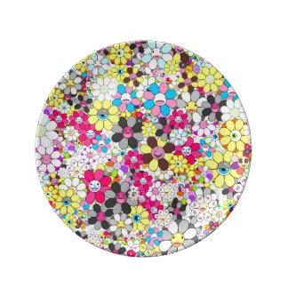 Social flowers by ilya konyukhov (c) porcelain plates