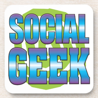 Social Geek v3 Beverage Coasters