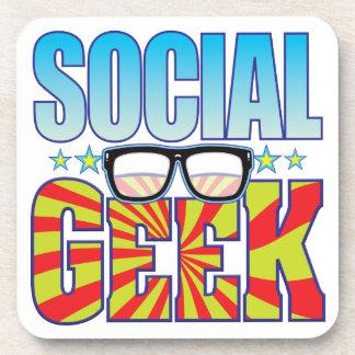 Social Geek v4 Drink Coaster