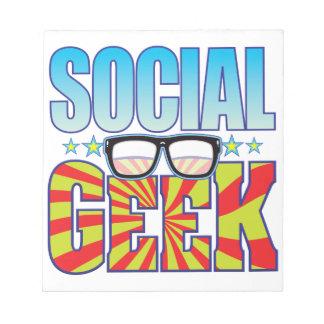Social Geek v4 Memo Notepad
