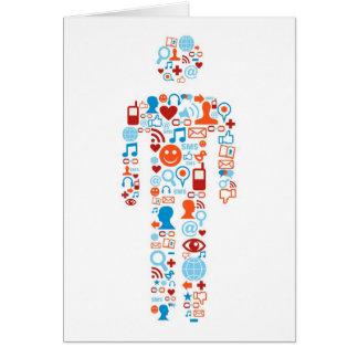 Social human shape greeting card