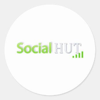 Social Hut Store Classic Round Sticker