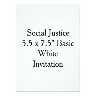 "Social Justice 5.5 x 7.5"" Basic White Invitation"
