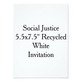 """Social Justice 5.5x7.5"""" Recycled White Invitation"""