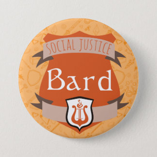 Social Justice Class Button: Bard Pinback Button