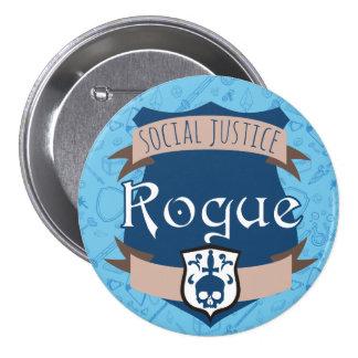 Social Justice Class Button: Rogue Pinback Button