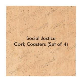 Social Justice Cork Coasters (Set of 4)