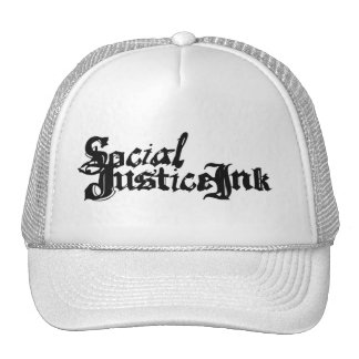 Social Justice Ink Hat (white and black)