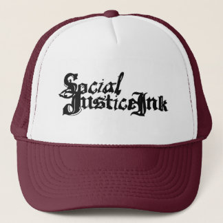 Social Justice Ink Hat (white and maroon)