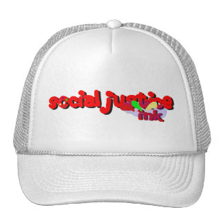 Social Justice Ink Paint Hat (white)