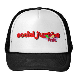 Social Justice Ink Paint Hat (white and black)