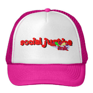 Social Justice Ink Paint Hat (white and pink)