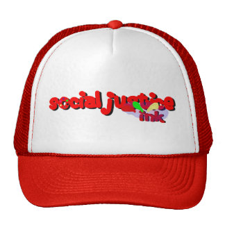 Social Justice Ink Paint Hat (white and red)
