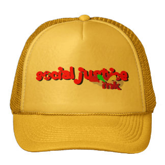 Social Justice Ink Paint Hat (yellow)