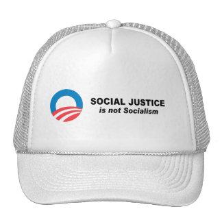 Social Justice is not socialism Mesh Hats