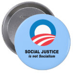 Social Justice is not socialism Pinback Buttons