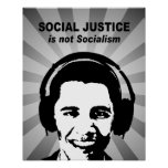 Social Justice is not socialism Posters
