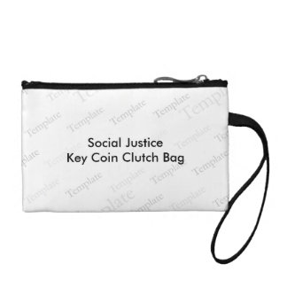 Social Justice Key Coin Clutch Bag Coin Purse