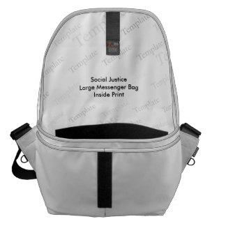 Social Justice Large Messenger Bag  Inside Print