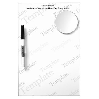 Social Justice M Mirror and Pen Dry Erase Board