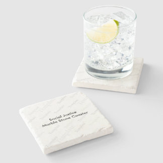 Social Justice Marble Stone Coaster