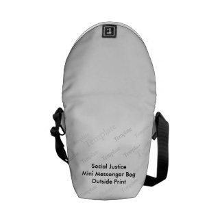 Social Justice Mini Messenger Bag  Outside Print