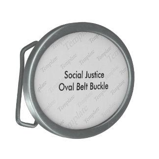 Social Justice Oval Belt Buckle