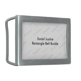 Social Justice Rectangle Belt Buckle