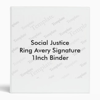 Social Justice Ring Avery Signature  1Inch Binder
