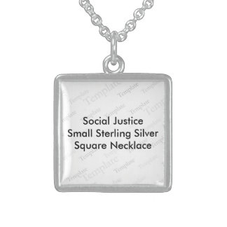 Social Justice (S) Sterling Silver Square Necklace