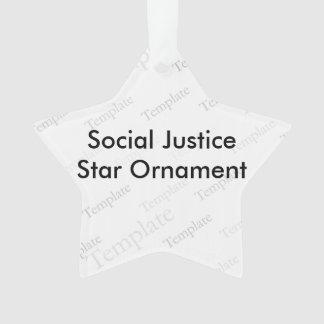 Social Justice Star Ornament