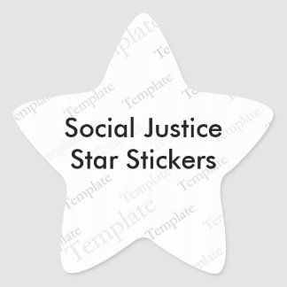 Social Justice Star Stickers