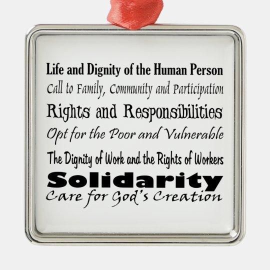 Social Justice Themes Metal Ornament