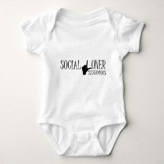 Social Loner Logo - New Baby Bodysuit
